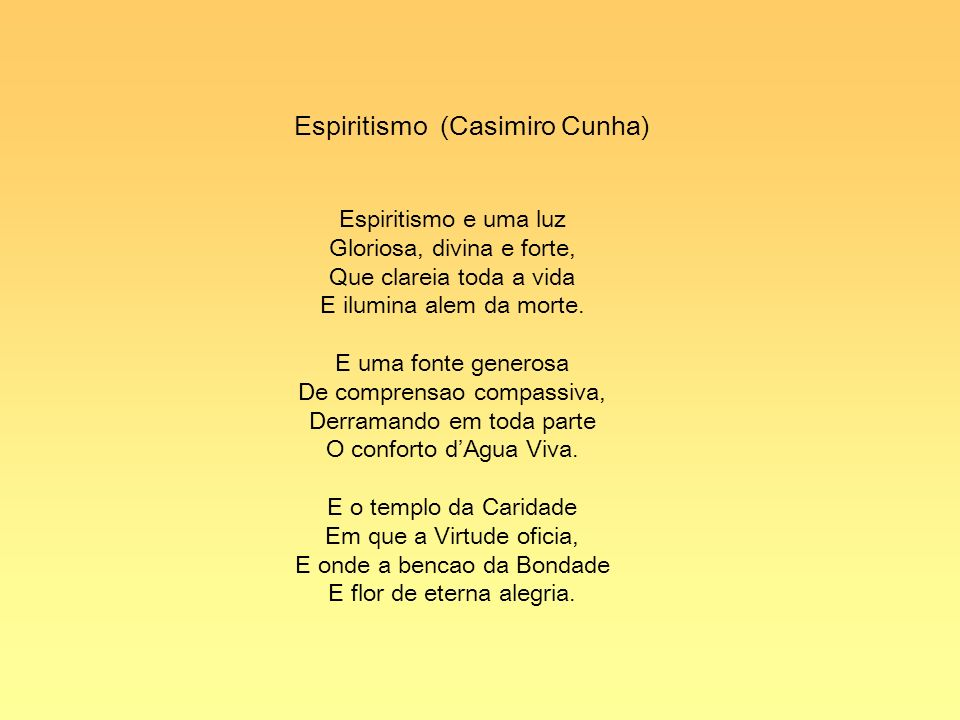 Espiritismo (Casimiro Cunha)