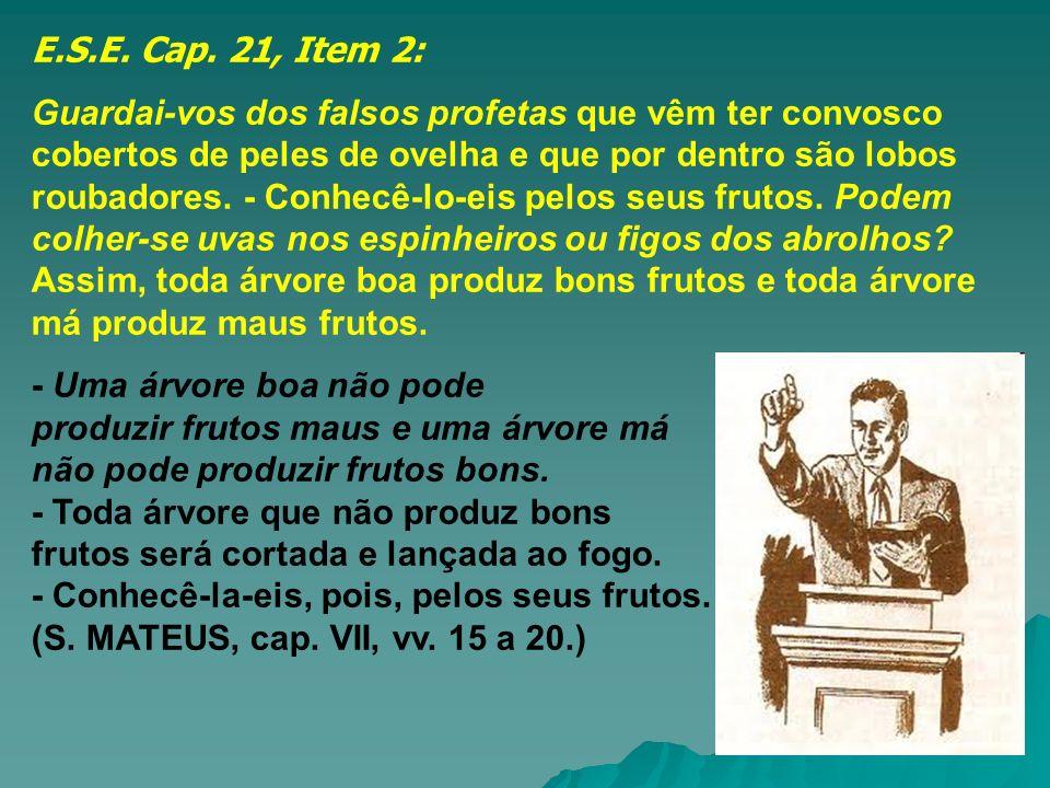E.S.E. Cap. 21, Item 2: