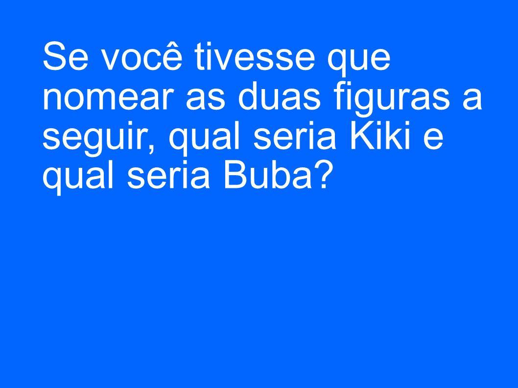 Se você tivesse que nomear as duas figuras a seguir, qual seria Kiki e qual seria Buba