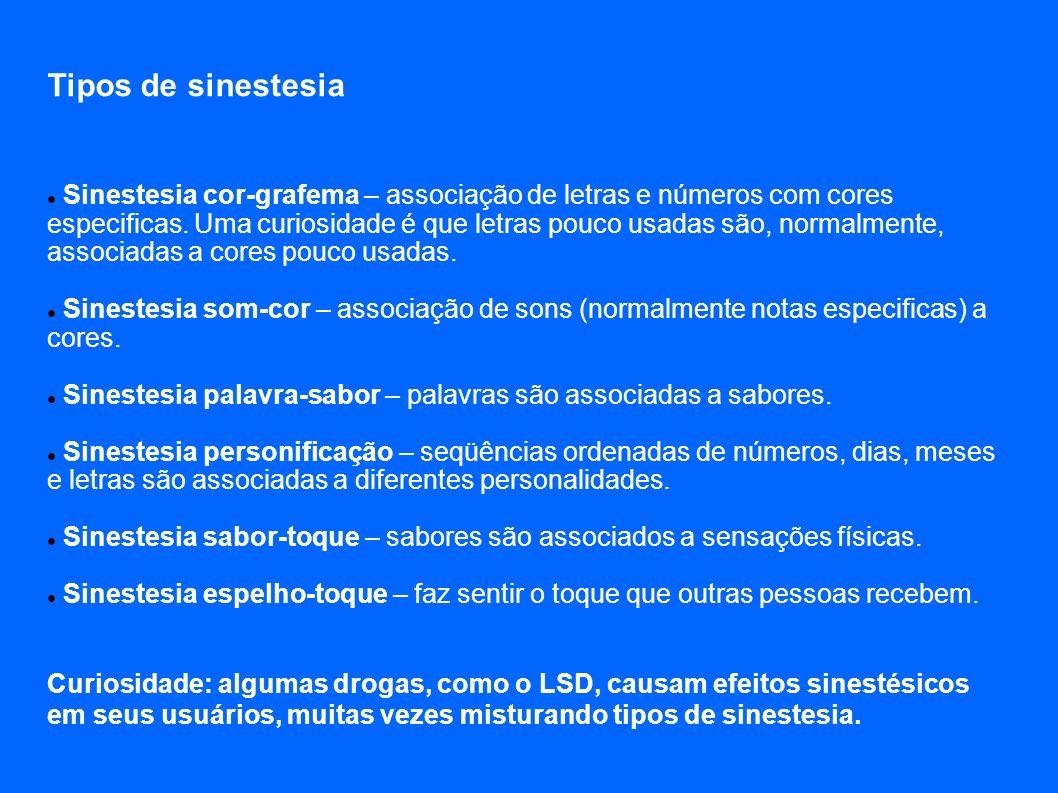 Tipos de sinestesia