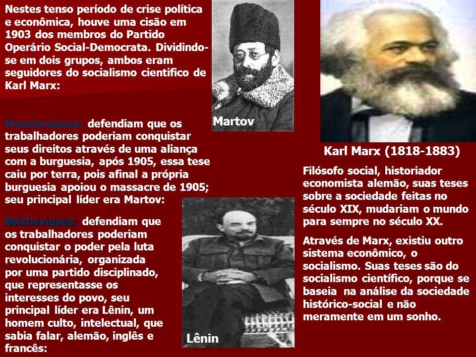 Martov Karl Marx (1818-1883) Lênin