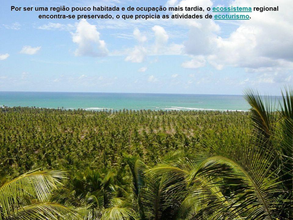 Por ser uma região pouco habitada e de ocupação mais tardia, o ecossistema regional encontra-se preservado, o que propicia as atividades de ecoturismo.