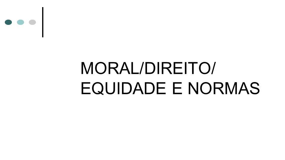 MORAL/DIREITO/ EQUIDADE E NORMAS
