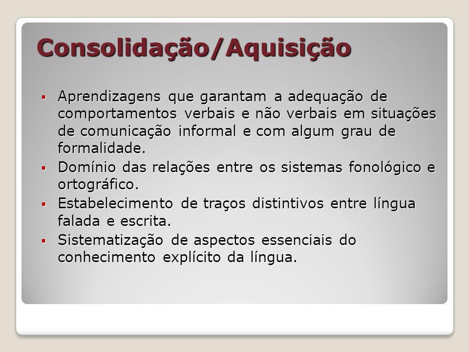 Consolidação/Aquisição