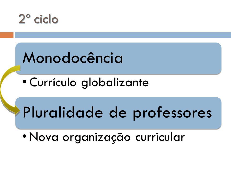 2º ciclo Monodocência Currículo globalizante