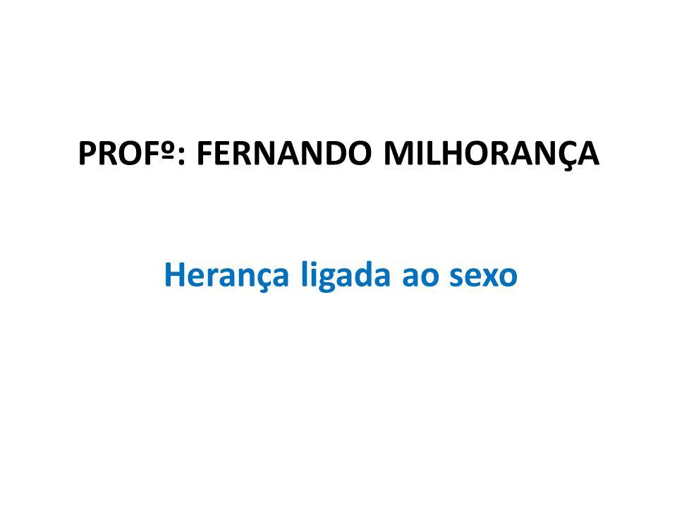 Profº: Fernando Milhorança