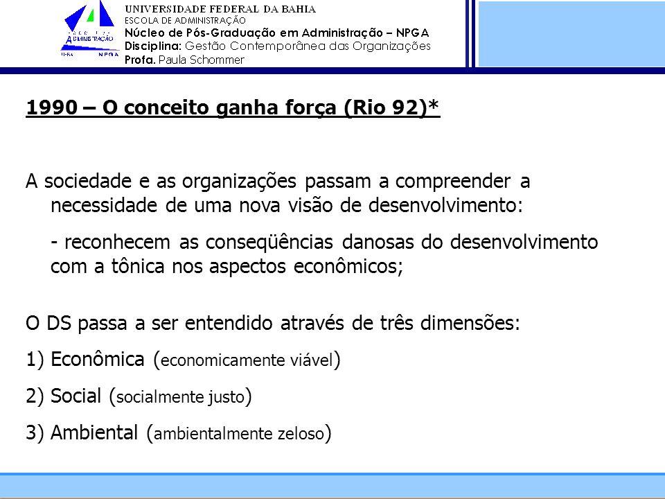 1990 – O conceito ganha força (Rio 92)*