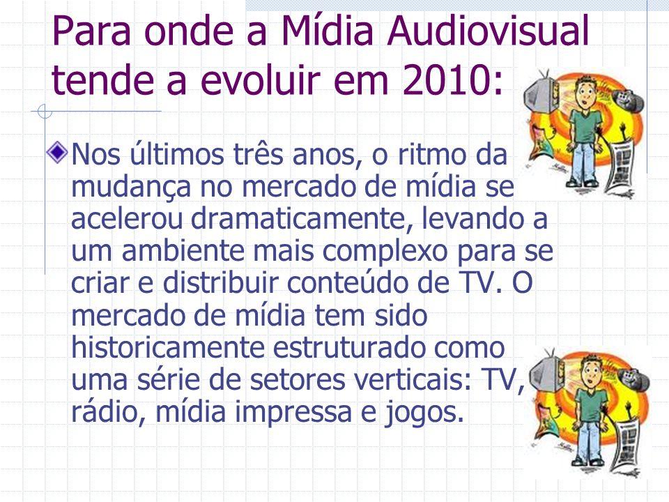 Para onde a Mídia Audiovisual tende a evoluir em 2010: