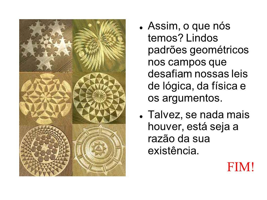 Assim, o que nós temos Lindos padrões geométricos nos campos que desafiam nossas leis de lógica, da física e os argumentos.
