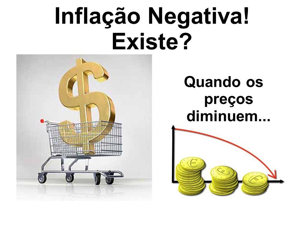 Inflação Negativa! Existe
