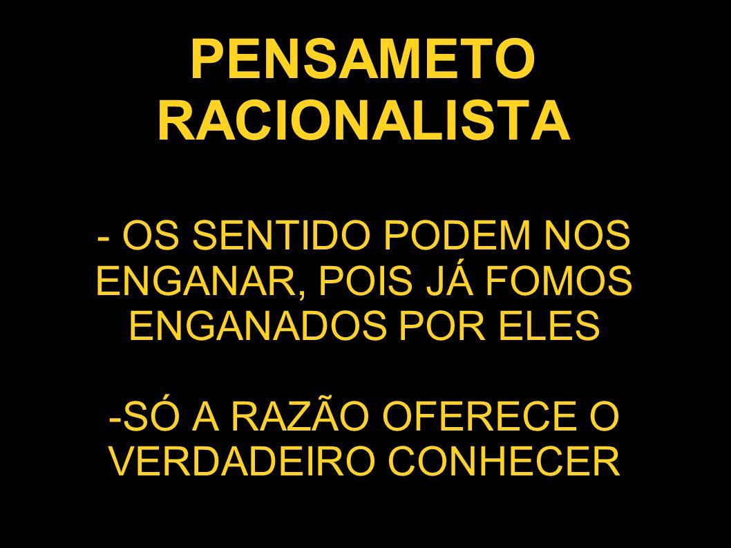 PENSAMETO RACIONALISTA