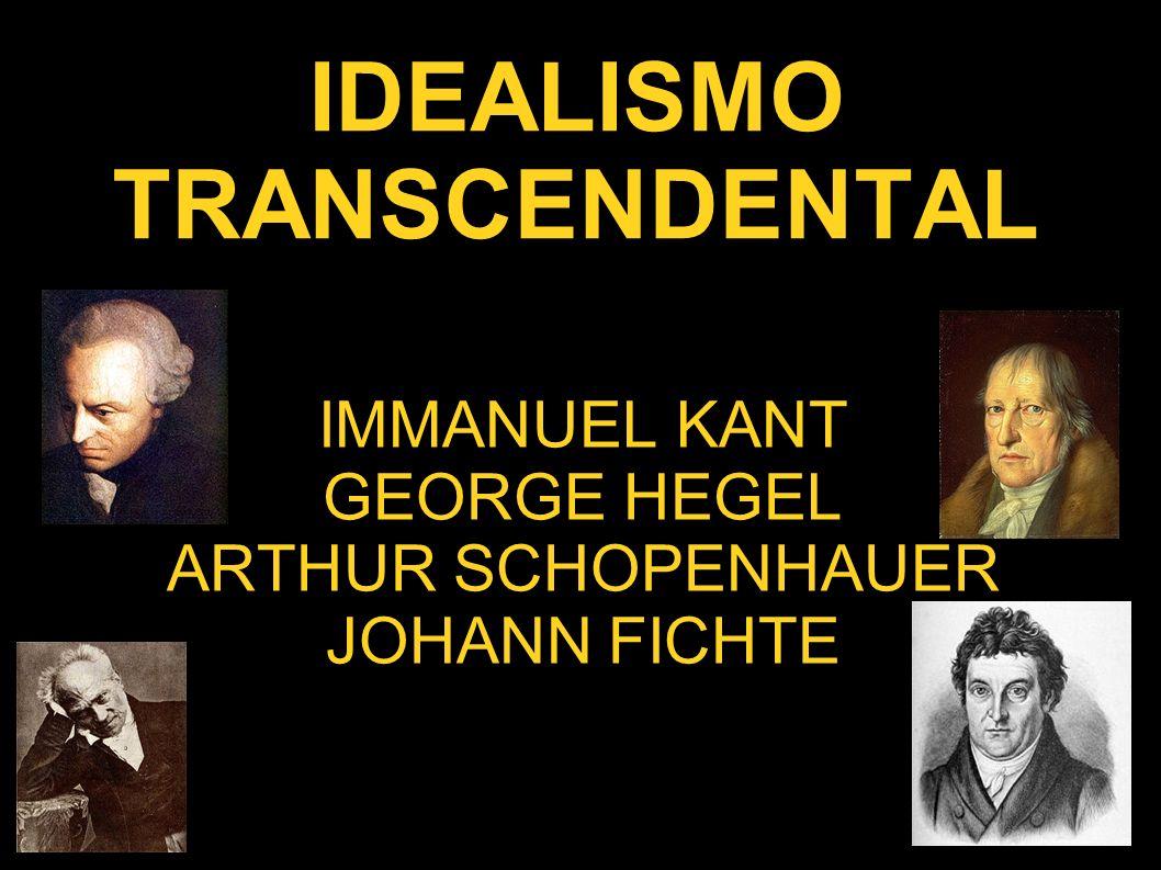 IDEALISMO TRANSCENDENTAL