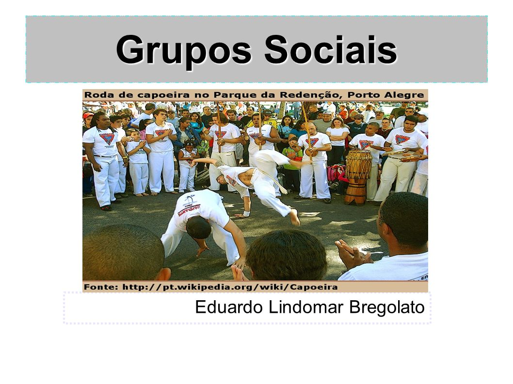 Grupos Sociais Eduardo Lindomar Bregolato