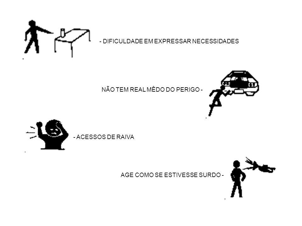 - DIFICULDADE EM EXPRESSAR NECESSIDADES