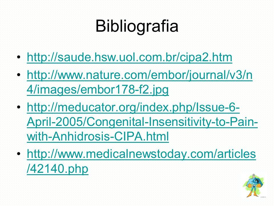 Bibliografia http://saude.hsw.uol.com.br/cipa2.htm