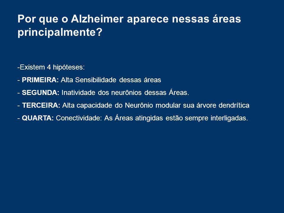 Por que o Alzheimer aparece nessas áreas principalmente