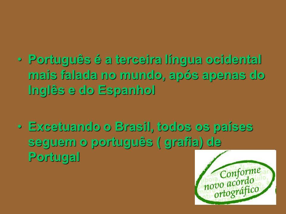Português é a terceira língua ocidental mais falada no mundo, após apenas do Inglês e do Espanhol