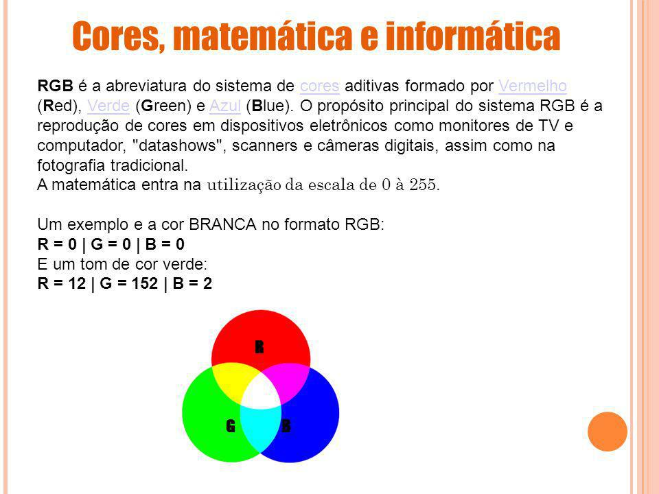 Cores, matemática e informática