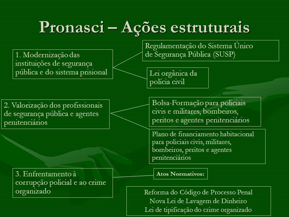 Pronasci – Ações estruturais