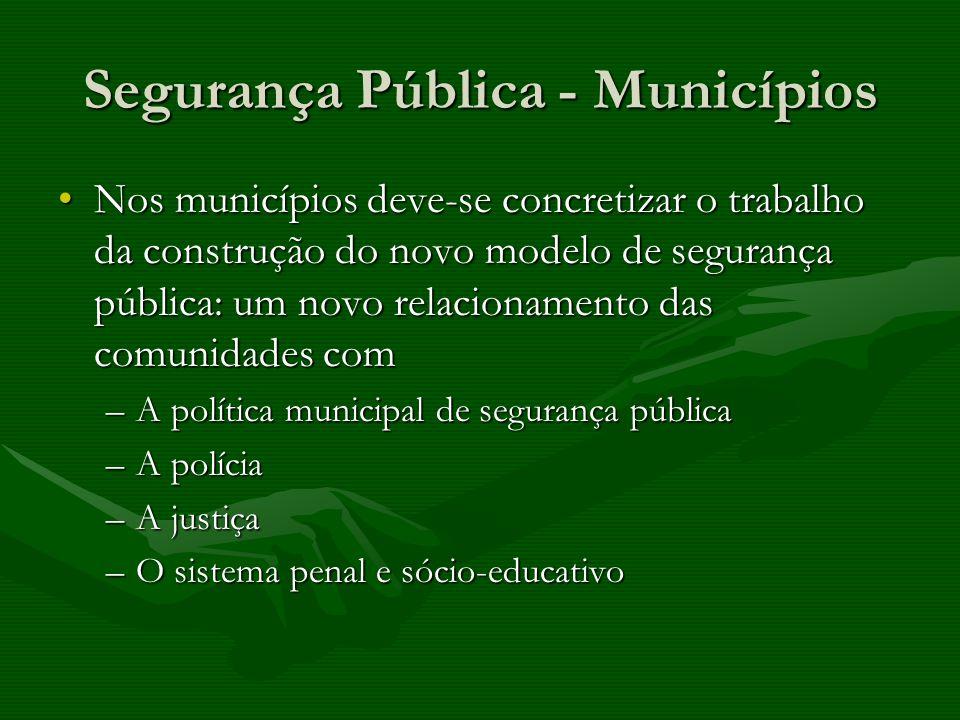 Segurança Pública - Municípios