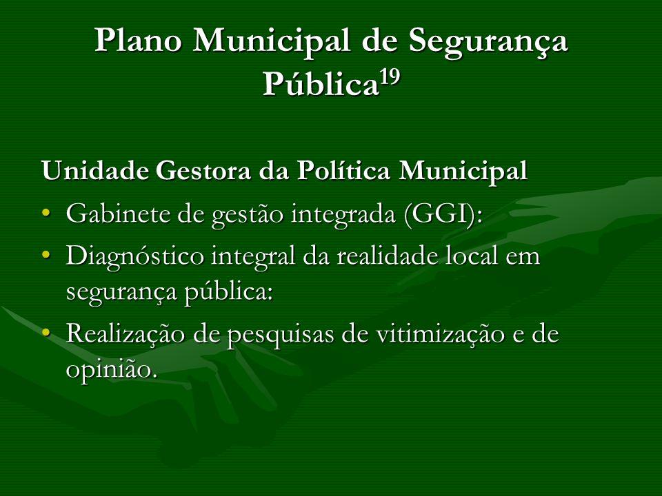Plano Municipal de Segurança Pública19