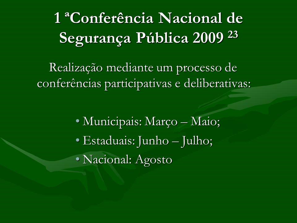 1 ªConferência Nacional de Segurança Pública 2009 23