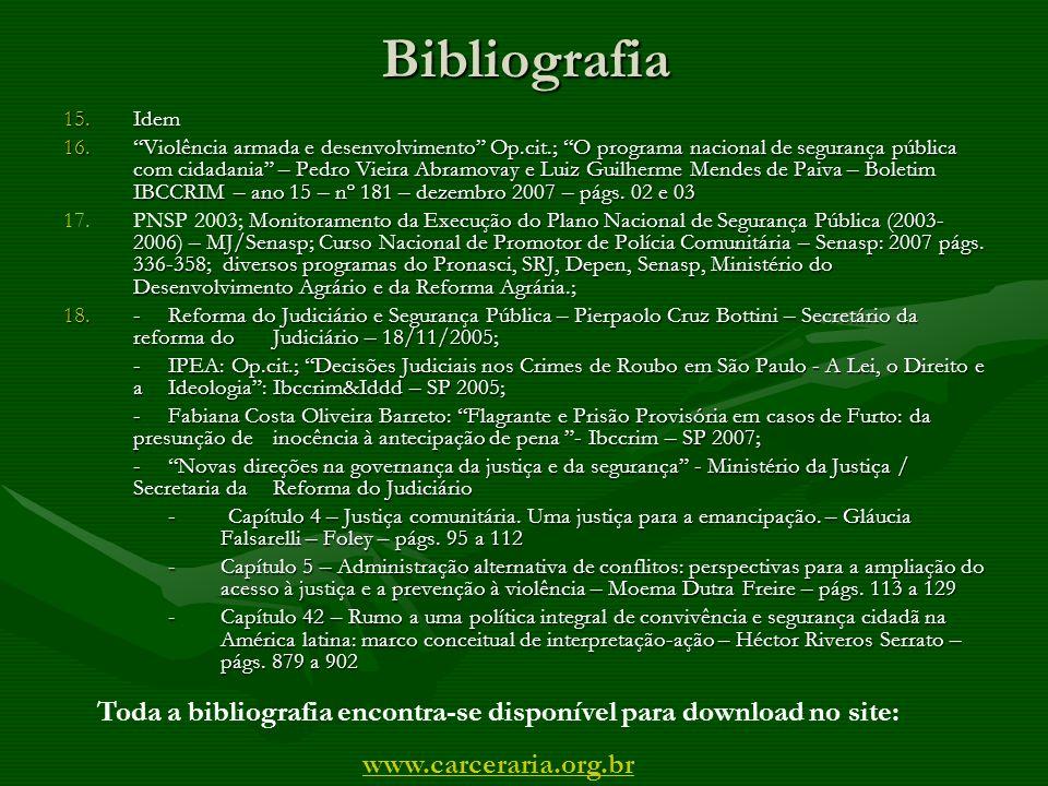 Toda a bibliografia encontra-se disponível para download no site: