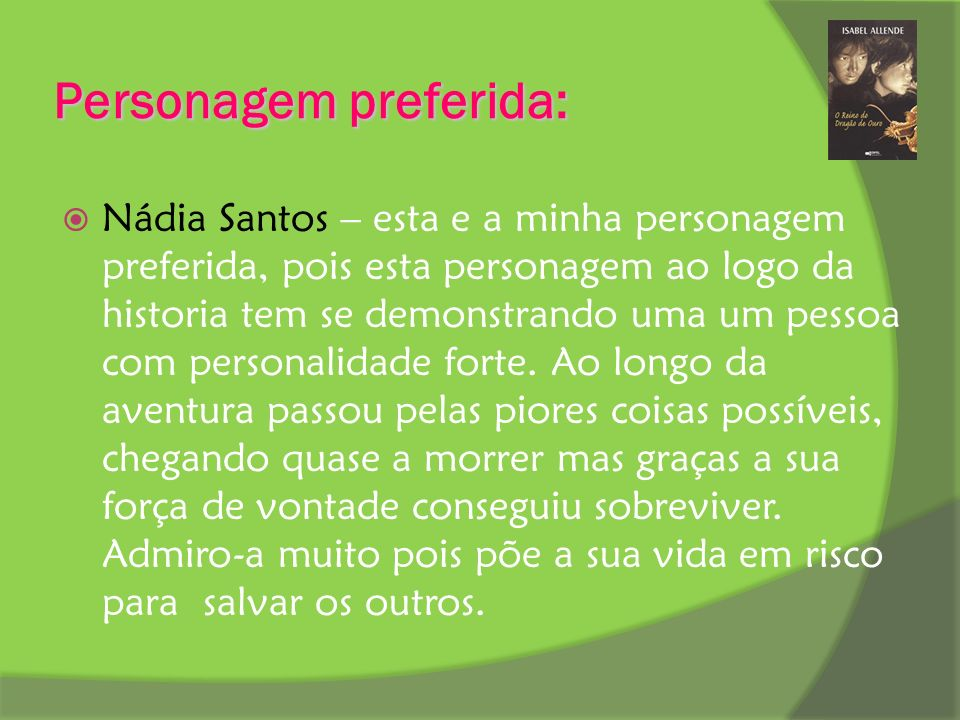 Personagem preferida: