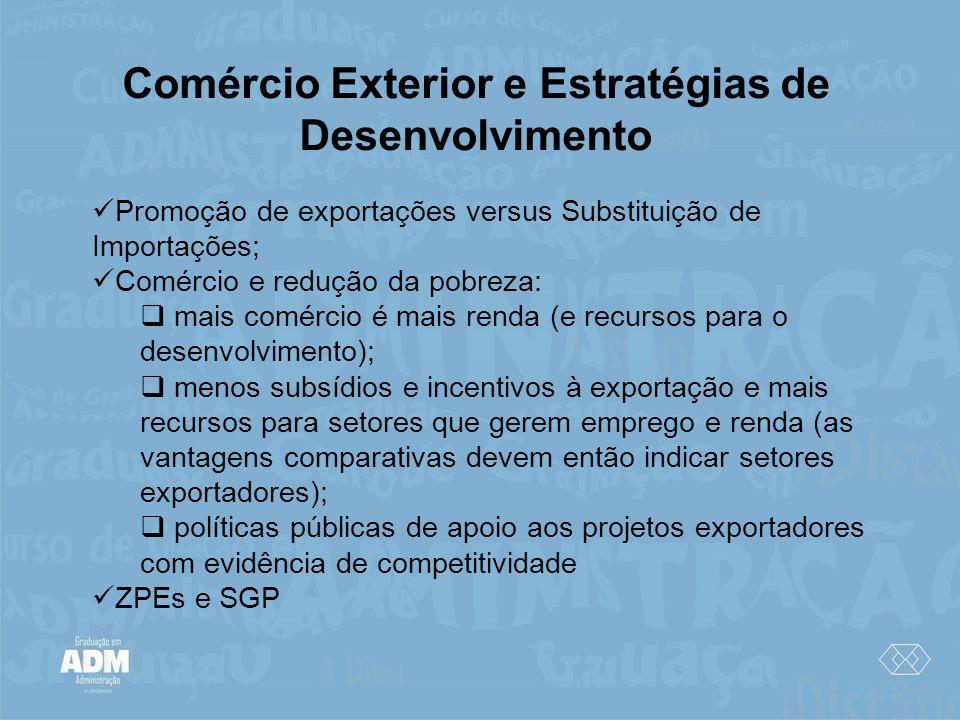 Comércio Exterior e Estratégias de Desenvolvimento