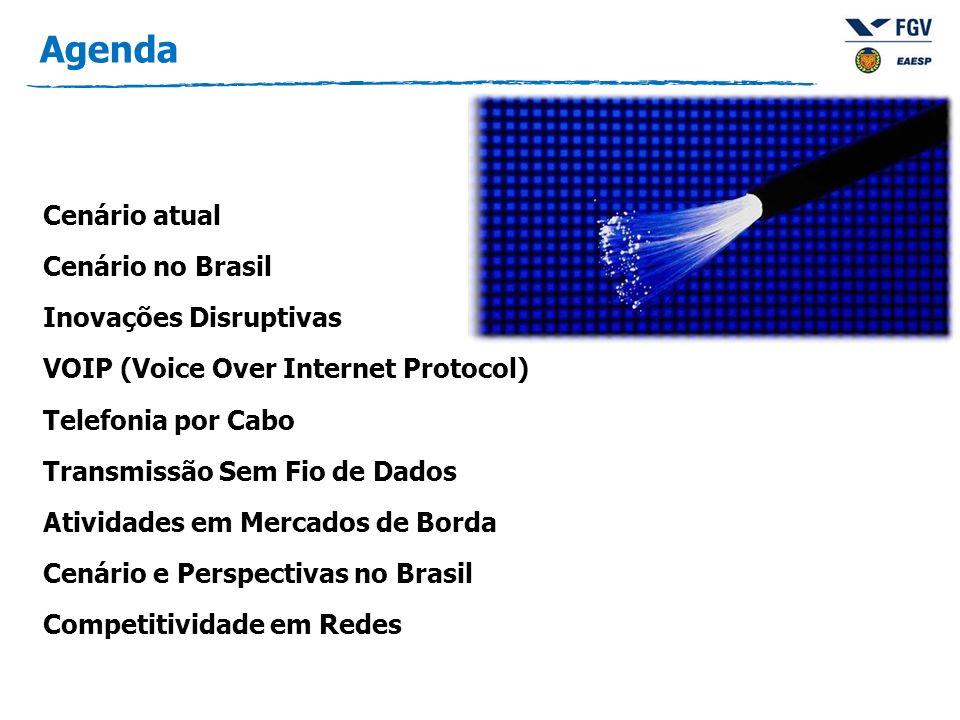Agenda Cenário atual Cenário no Brasil Inovações Disruptivas