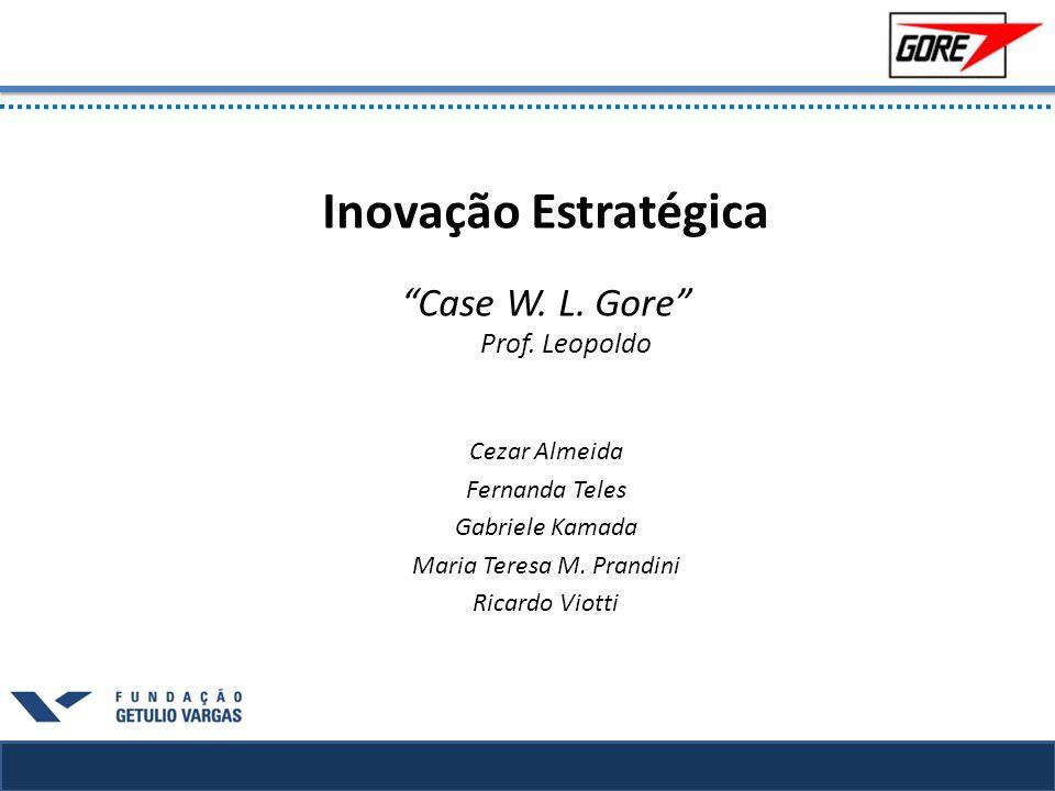 Inovação Estratégica Case W. L. Gore Prof. Leopoldo Cezar Almeida