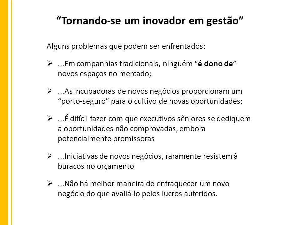 Tornando-se um inovador em gestão