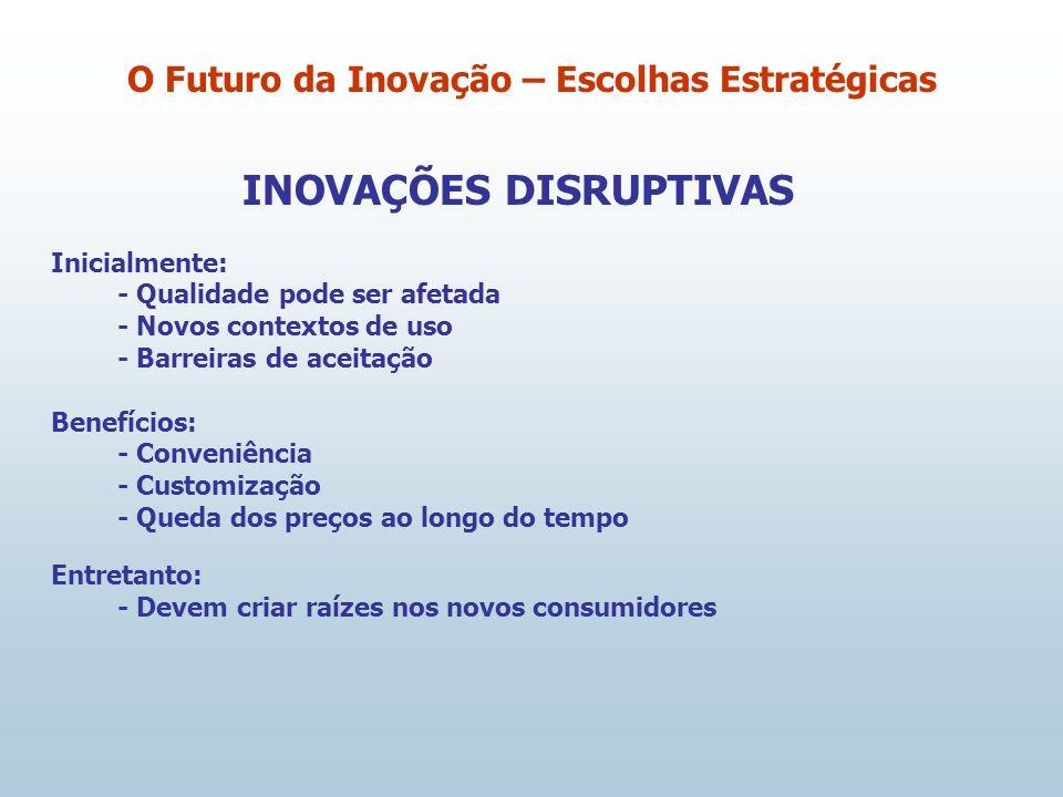O Futuro da Inovação – Escolhas Estratégicas INOVAÇÕES DISRUPTIVAS