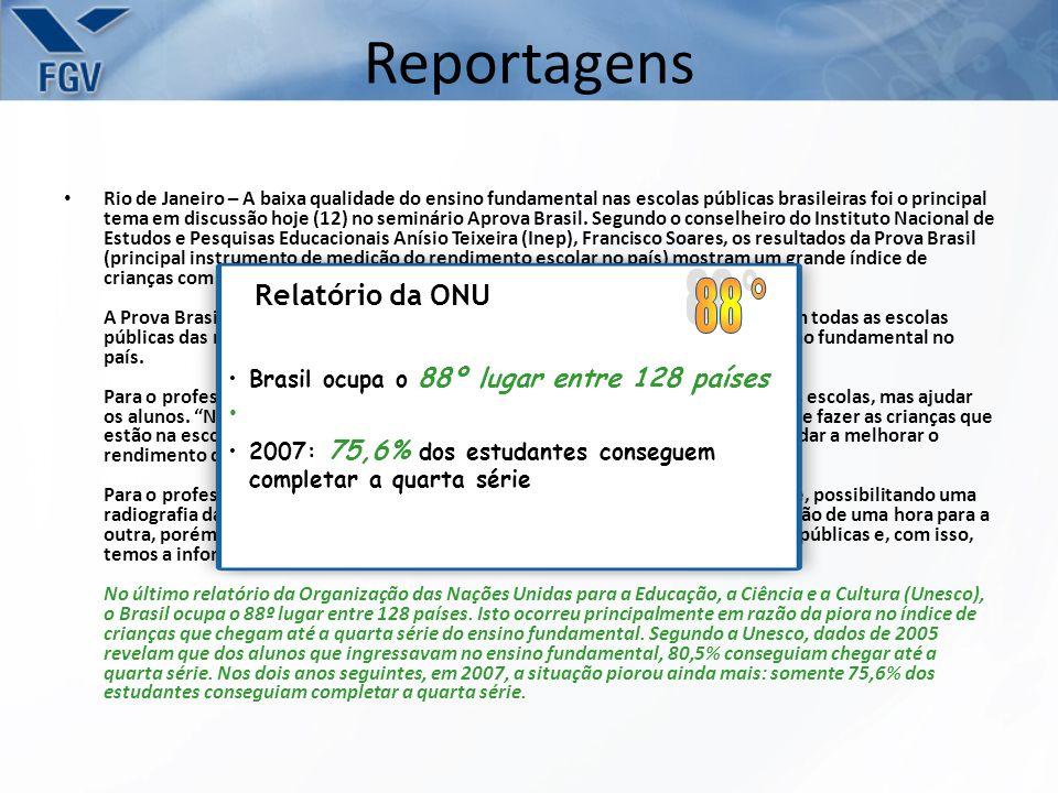 Reportagens 88 ° Relatório da ONU