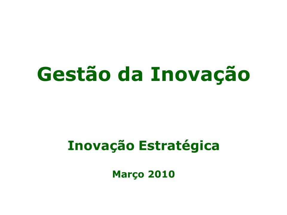 Gestão da Inovação Inovação Estratégica Março 2010