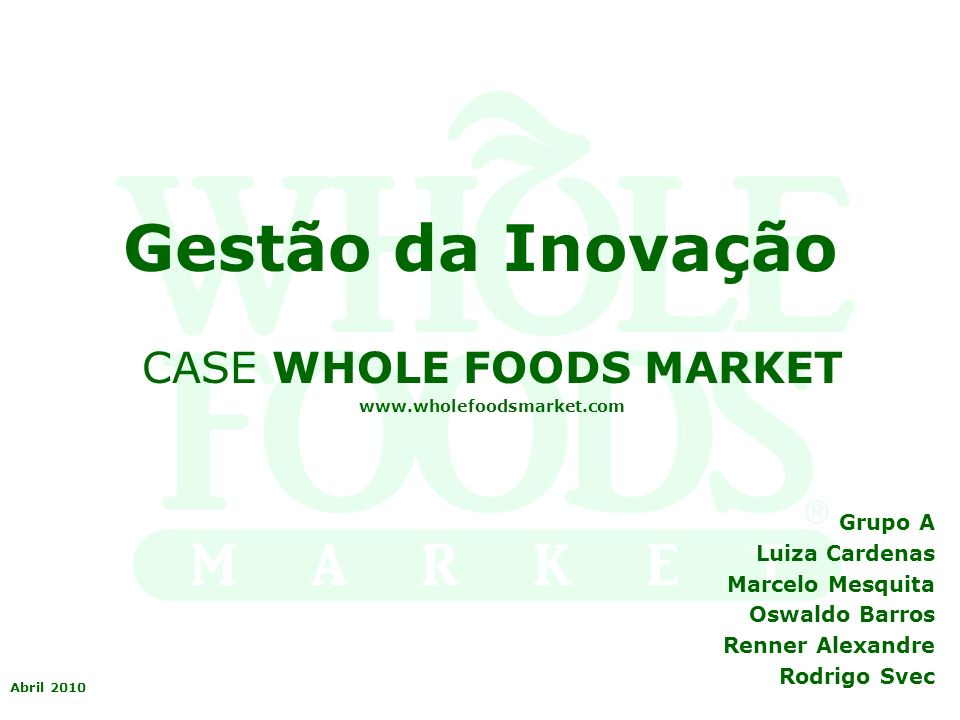 "whole foods market case The whole foods market is one among the popular food markets and it is one of the most  ""job evaluation whole foods case study example  whole foods case."