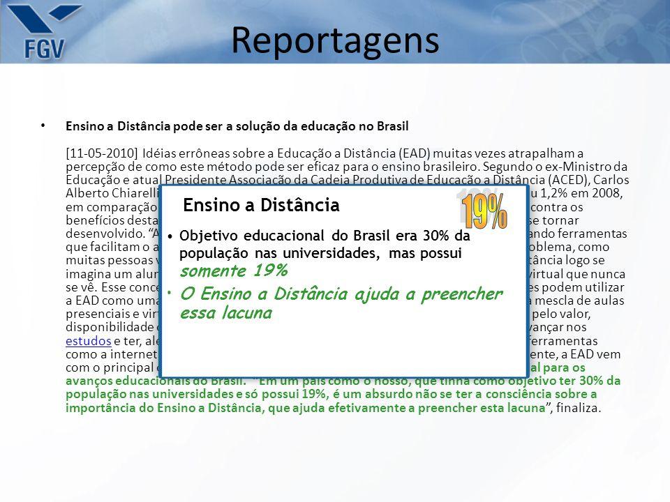 Reportagens 19% Ensino a Distância
