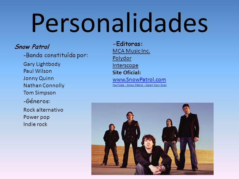 Personalidades -Editoras: