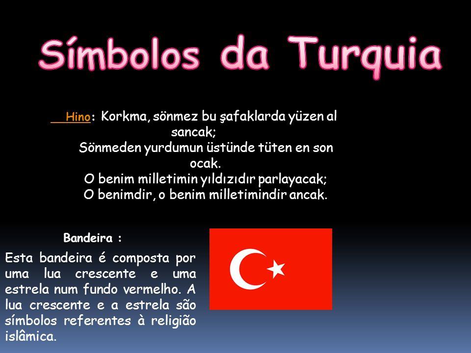 Símbolos da Turquia Sönmeden yurdumun üstünde tüten en son ocak.