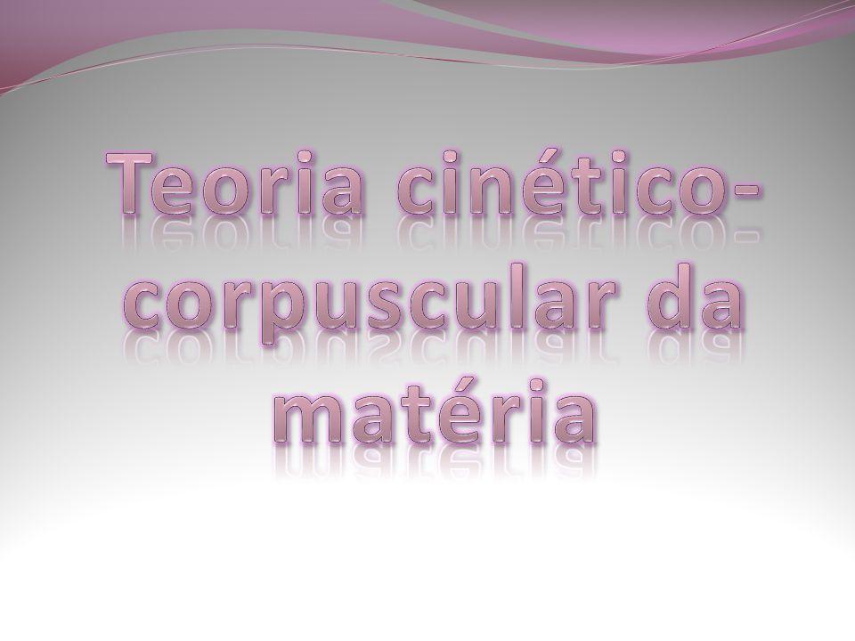 Teoria cinético- corpuscular da matéria