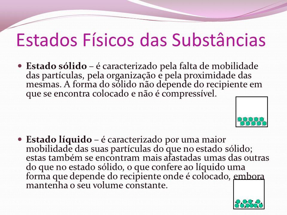 Estados Físicos das Substâncias