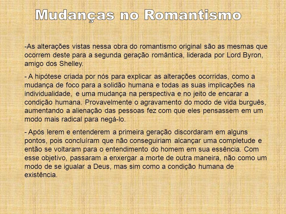 Mudanças no Romantismo