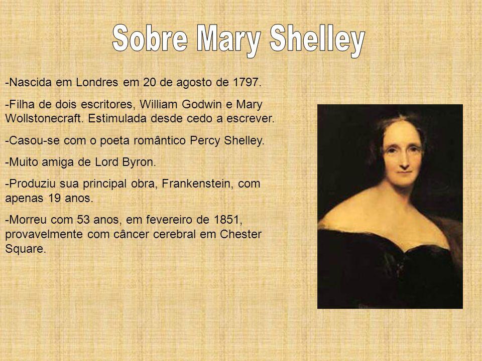 Sobre Mary Shelley -Nascida em Londres em 20 de agosto de 1797.