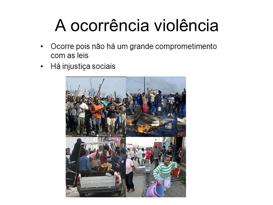A ocorrência violência