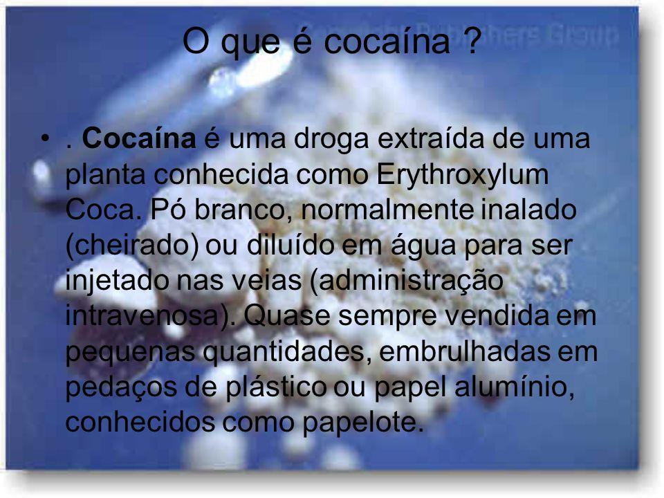 O que é cocaína