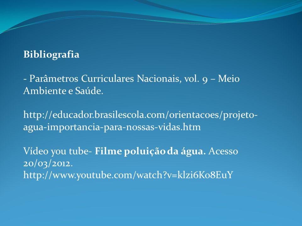 Bibliografia - Parâmetros Curriculares Nacionais, vol. 9 – Meio Ambiente e Saúde.