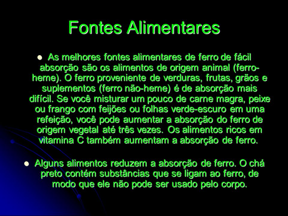 Fontes Alimentares