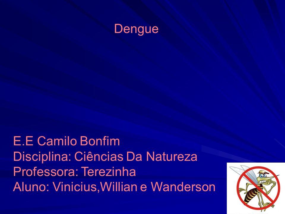 Dengue E.E Camilo Bonfim. Disciplina: Ciências Da Natureza.