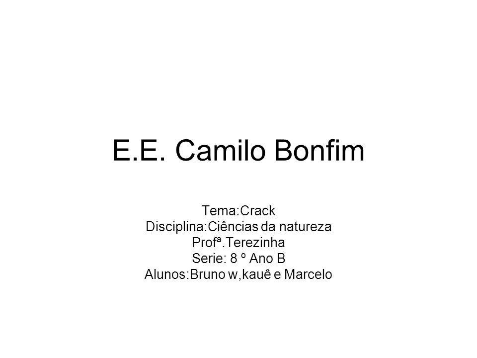 E.E. Camilo Bonfim Tema:Crack Disciplina:Ciências da natureza