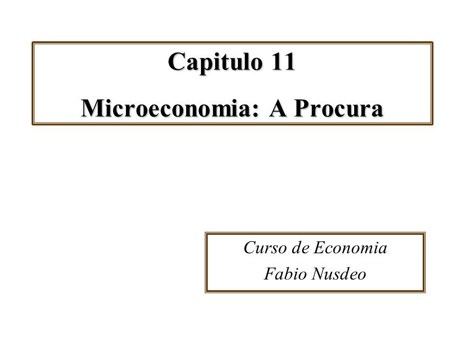 Capitulo 11 Microeconomia: A Procura